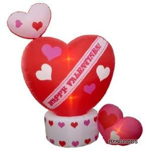 8 Foot Animated Inflatable Valentines Day Hearts w/ Top
