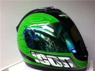 Icon Mainframe Hooligan Full Face Helmet MOTORCYCLE Neon Green M