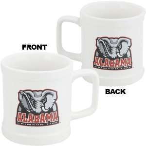 Alabama Crimson Tide White 11 oz Decal Mug Sports