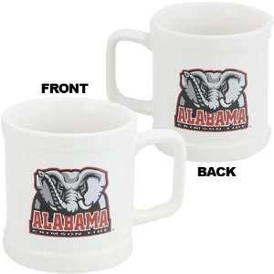 Alabama Crimson Tide White 11 oz Decal Mug Sports