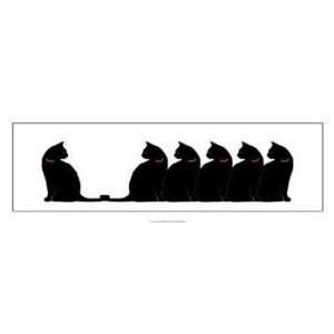 Lens Six Black Cats 36 x 12 Poster Print: Home & Kitchen