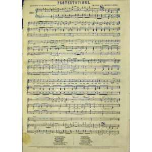 Music Score Poetry Mackay Rodwell Protestations 1849: Home & Kitchen