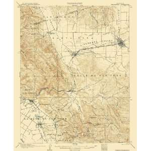 USGS TOPO MAP PLEASANTON QUAD CALIFORNIA (CA) 1906 Home