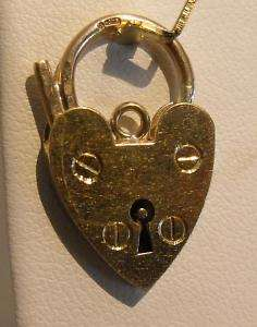 VICTORIAN 9K GOLD OPENING HEART LOCK CHARM PENDANT
