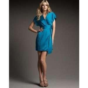 Diane Von Furstenberg Kimoni Wrap Dress NEW NWT $325 4 DVF Indain Blue
