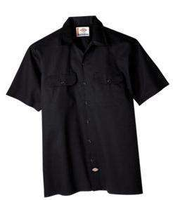 Dickies Short Sleeve Work Shirt 1574 BLK NWT SZ S 6XL