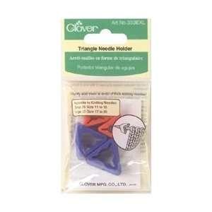 Clover Triangle Needle Holder For Jumbo Needles 4/Pkg 333 EXL; 3 Items