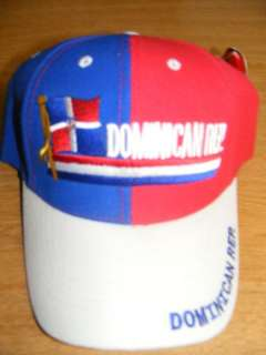 DOMINICANA DOMINICAN REPUBLIC FLAG SPANISH CAP HAT