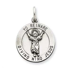 Sterling Silver Divino Nino Pendant (Divine Infant Jesus