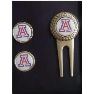 Arizona Wildcats Tool Divot Ncaa Golf Ball 2 Marker Set