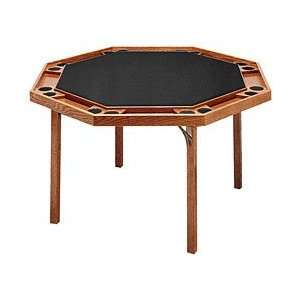 Oak Octagonal Poker Table with Black Vinyl Top