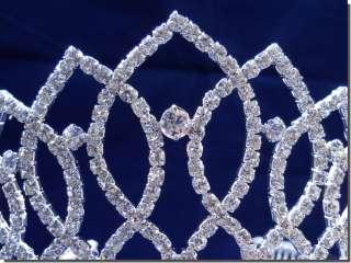 Bridal Wedding Crown Veil Pageant Homecoming Prom Crystal Tiara 99068