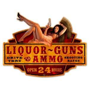 Liquor Guns Ammo Pinup Girls Custom Metal Shape   Victory