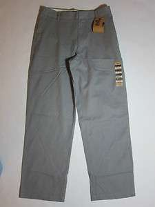GREEN D2 STRAIGHT FIT FLAT FRONT DOCKERS KHAKI PANTS W30 L30