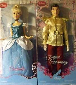 PRINCESS * CINDERELLA & PRINCE CHARMING * (Both Dolls) new MIB