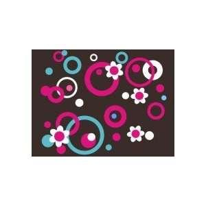 Girls Dots Circles Flowers Preppy Wall Art Decal