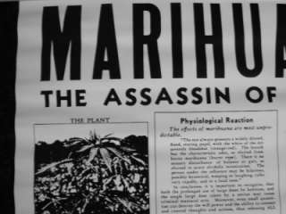 ~MARIJUANA~ASSASSIN of Youth MADD Stamp Out Dope Poster