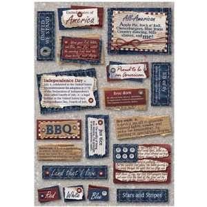 Karen Foster Design Patriotic Words Stickers