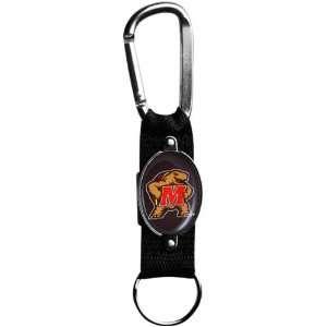 Maryland Terrapins Black Carabiner Clip Keychain  Sports