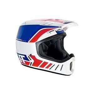 JT RACING ALS 02 HELMET (MEDIUM) (WHITE/RED/BLUE) Automotive
