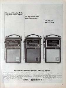 1964 GENERAL ELECTRIC short wave/Radio vintage ad
