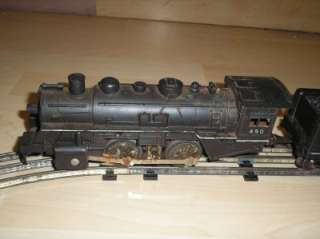 Old Vtg Mar Toys Marx Train Set Locomotive #490, Transformer #1209