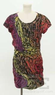 DVF Diane Von Furstenberg Multicolor Print Silk Dress Size 12
