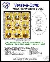 Easter quilt pattern w/poem label