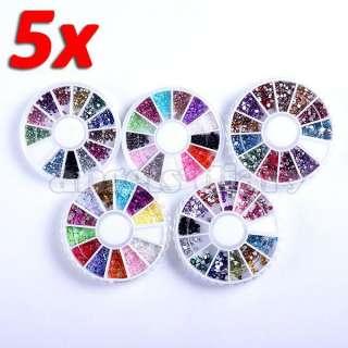 Wheel Nail Art 2.0 mm Mix Color Rhinestones Beads