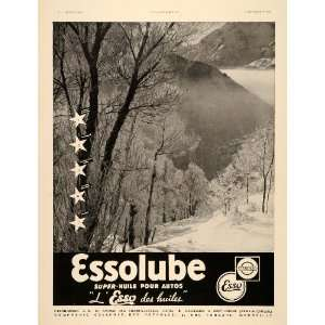 1935 Ad French Essolube Exxon Mobile Standard Oil Fuel
