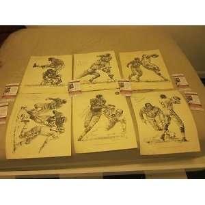 1960 Shell Oil New York Giants NFL Football Prints 6
