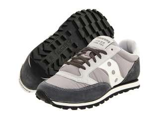 Saucony Originals Mens Jazz Low Pro Running Shoes Grey/White