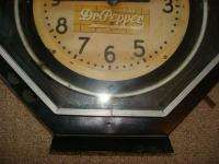 1930 40s Vintage Dr Pepper Neon Advertising Octagon Clock Products