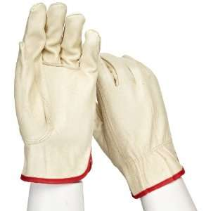 West Chester 9940K Leather Glove, Shirred Elastic Wrist Cuff, 9.5