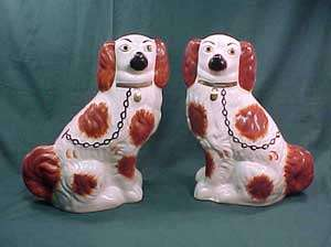 Pair of Antique Staffordshire Dog Figures