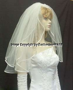 Ivory Bridal Wedding Veil Elbow Swarovski Crystal 7