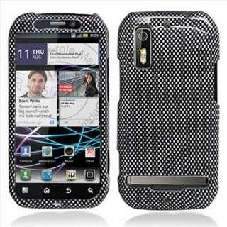Motorola Electrify Carbon Fiber Image Hard Case Cover +Screen