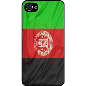 Rikki KnightTM Afghanistan Flag Black Hard Case Cover for Apple iPhone