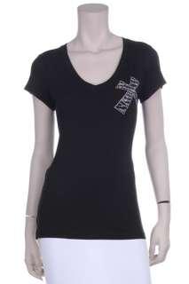 Rhinestone Embellished ZebraCross T Shirt, Plus Sz, BLK