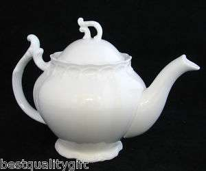PEPPERTREE FINE PORCELAIN WHITE CLASSIC TEAPOT+LID NEW