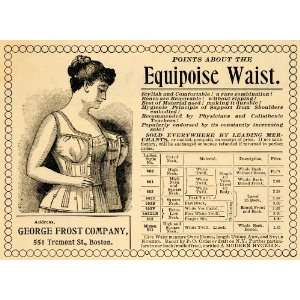 1895 Ad Equipoise Waist George Frost Company Corsets