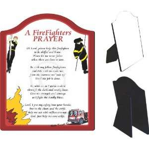 A Firefighters Prayer Touching 5x7 Poem with Full Color