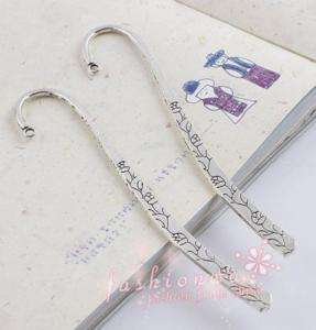 30 Ancient Silver Plated Flower Design Bookmark 120mm 1