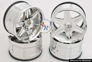 10 RC Touring Car LP32 WHEEL RIM WORK LS406 CHROME 4p
