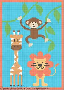 Crochet Patterns   SAFARI ANIMALS BABY AFGHAN PATTERN