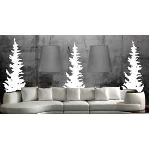 Evergreen Trees Decal Sticker Wall Forest Tree Mountain Green Cabin