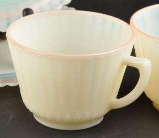 15pc Lot Macbeth Evans Petalware Cremax Beige Pastel Plates, Saucers