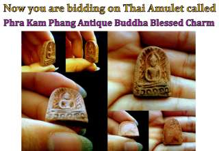 Amazing Sale! Thai Amulet Phra Kam Phang Holy Buddha Blessed Antique