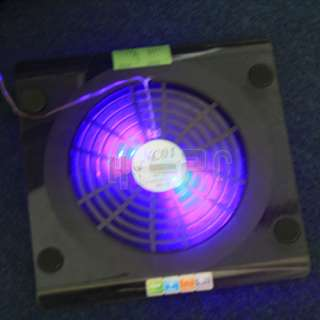 USB Laptop NC01 1 Big Cooling Fan Cooler Pad Stand Blue LED