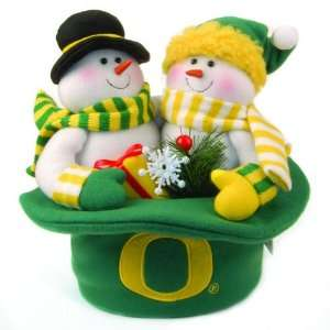 12 NCAA Oregon Ducks Plush Snowmen Top Hat Christmas